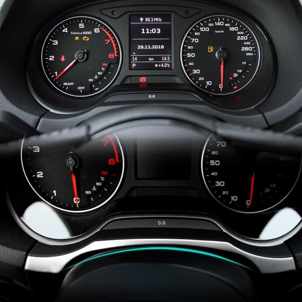 자동차 액세서리 계기판 대시 보드 트림 커버 스티커 아우디 A3 8V 2013-2020 스테인레스 스틸 1pc