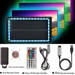 50CM 1M 2M 3M Bluetooth USB RGB LED Strip Light 5050 DC 5V Neon Ribbon Tira LED Tape TV Background Lighting + Remote Controller
