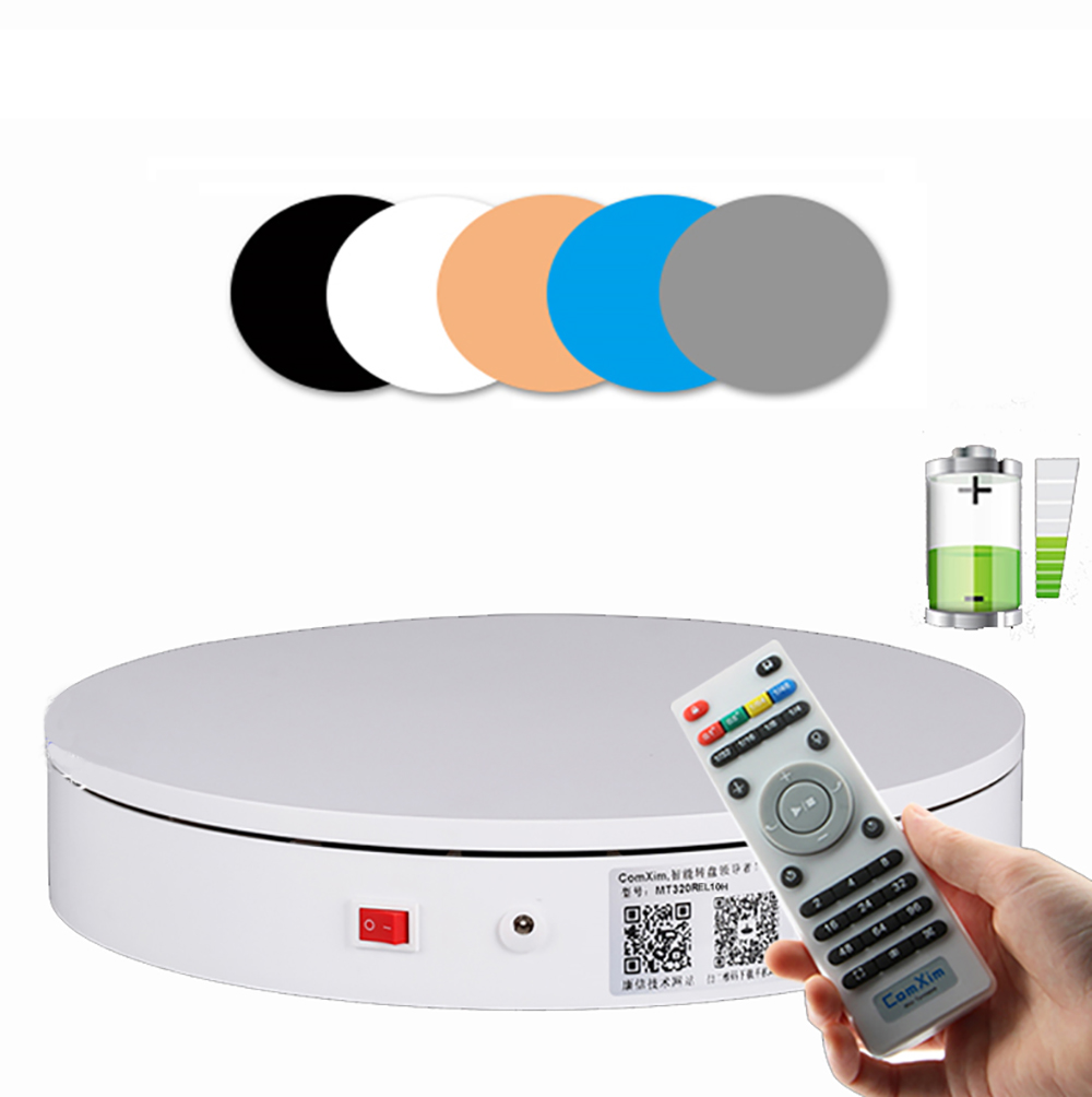 100-240V Rechargeable Electric Turntable Wireless Automatic Remote Control Photography Rotating Display Stand 20/32/40/50/60CM Y