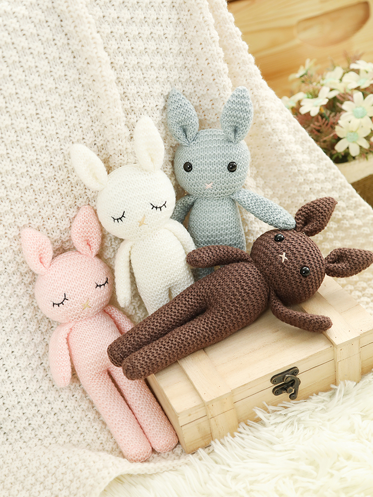 Handmade Original Present Stuffed Animals Gift Ideas Plush Rabbit Toy Lithuania Accessories Baby Toys Doll House Bunny Handmade Toy