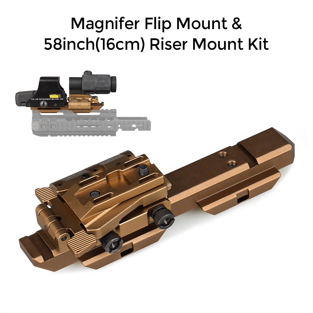 E.T Dragon Magnifer Flip Mount & 58inch(16cm) Riser Mount Kit rifle scope mount for hunting GZ240232