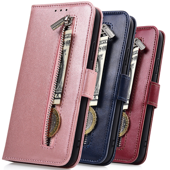 For On Samsung Galaxy A50 A505 A505F Capa Zipper Wallet Leather Case for Samsung A50 A 50 Cover For Samsung A505 Case With Strap image