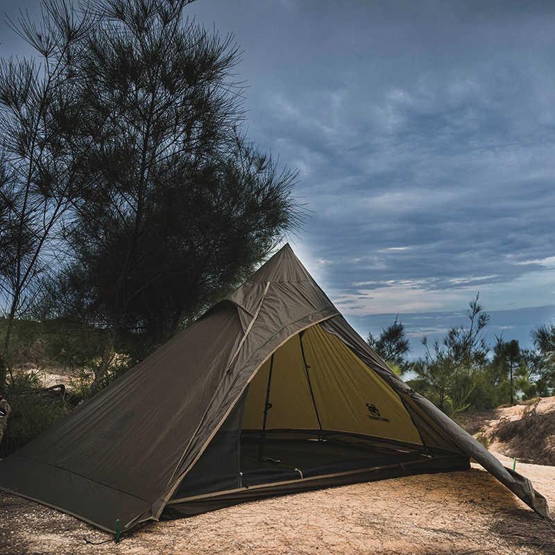 OneTigris TIPINOVA podwójny namiot Ultralight dla poszukiwaczy przygód odkryty trekkingowy namiot kempingowy 2 osoby lekki