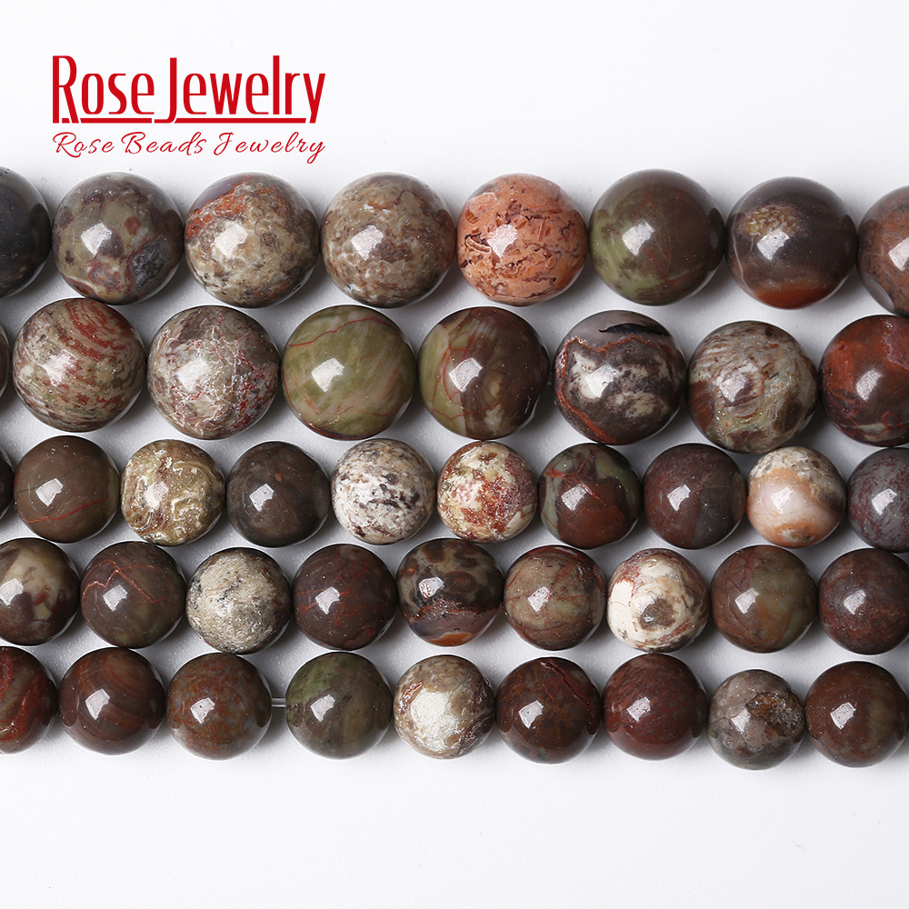 Wholesale Natural Stone Flower Jaspers Agates <font><b>Beads</b></font> 15