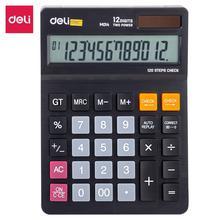 DELI EM01420 Desktop Calculator Check & correct function fashion office calculator dual power auto power off office supply
