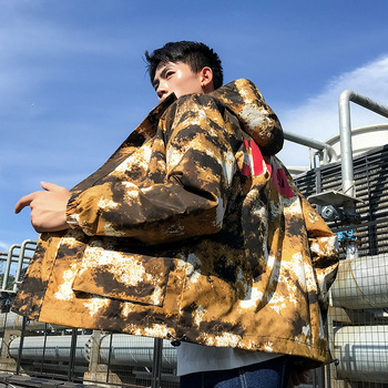 Autumn  New Mens Casual Hooded Camouflage Jacket Fashion Style Men'S Coat Large Size LooseJapanese Street Men Clothing