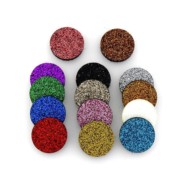 Nuevos 10 Uds. Almohadillas de fieltro de aromaterapia Glint coloridas de 17mm y 22mm aptas para aceites esenciales difusor de color al azar