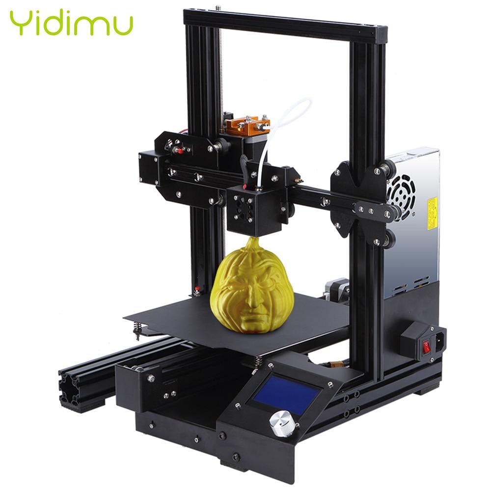 Yidimu New Arrival I3 PLA Filament 3D Printer Resume Power Failure Printing DIY KIT Mean Well Power Supply 3D Impresora