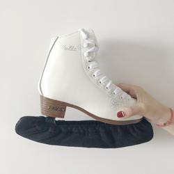 1 пара утепленные, фланелевые Ice фигура скейтера катание лезвие конька крышка гвардии Протектор Эластичный антикоррозионные поглощение