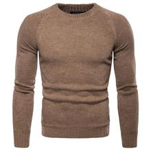2019 Autumn Winter Thin Sweater Men Casual Pullover mens Long Sleeve O-Neck Patchwork Knitted Solid Sweaters men Pull Homme pink scoop neck patchwork splited hem thin sweaters