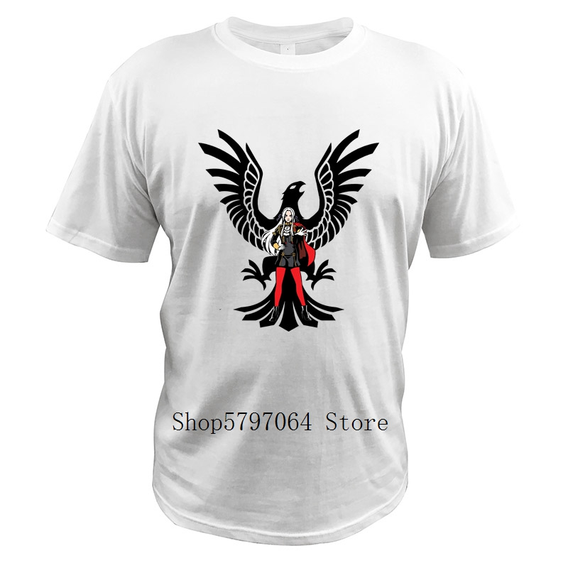 Fire Emblem T Shirts Black Eagles Edelgard Video Game Streetwear Size 3XL Clothing Digital Print Short Sleeve O-Neck Tops image