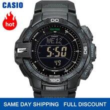 Casio izlemek g şok izlemek erkekler üst marka lüks askeri dijital bilek saati 100m Su geçirmez dağ saatler kuvars spor erkekler saat Aydınlık Dalgıç Üçlü Sensör Dijital pusula Güneş erkek izlemek relogio reloj часы
