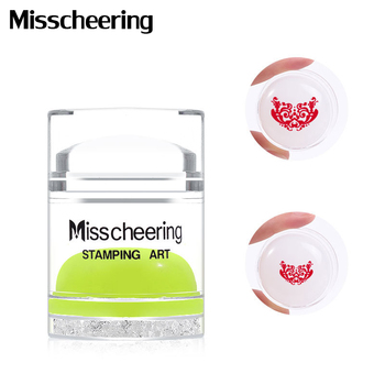 Dual Side Clear White Jelly Stamper with Rhinestone Silicone Nail Art Stamper Scraper Set For Transfer Stamp Plates Image Tools недорого