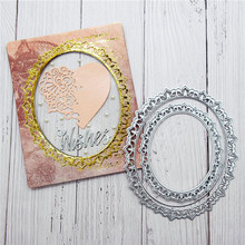 Naifumodo Lace Dies Oval Frame Metal Cutting New 2019 Scrapbooking Card Making Embossing Stencil DieCut Template