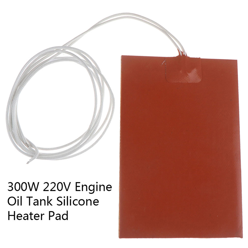 220V 300W Engine Oil Tank Silicone Heater Pad Universal Fuel Tank Water Tank Rubber Heating Mat Warming Accessories 10x15cm