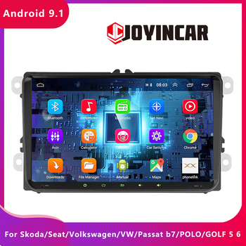 JOYINCAR Car Multimedia Player 2 din 4-core GPS Navi Android 9.1 autoradio For Skoda/Seat/Volkswagen/VW/Passat b7/POLO/GOLF 5 6 image