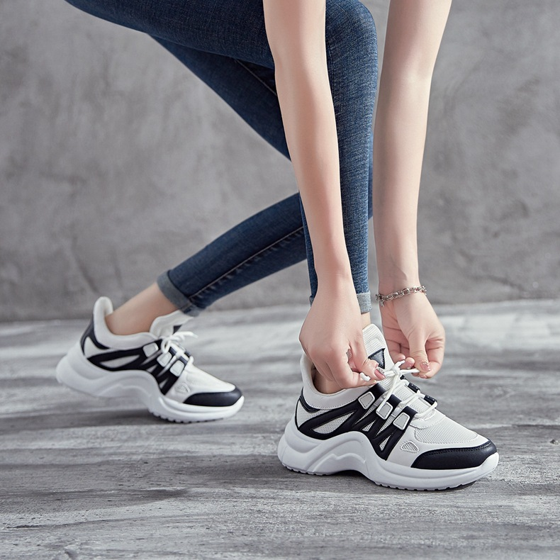 Hd883bc760f7646bdb89adec7608da7d0S - Fujin Sneakers Women Breathable Mesh Casual Shoes Female Fashion Sneaker Lace Up High Leisure Women Vulcanize Shoe Platform