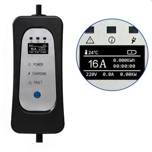 Image 5 - Cargador portátil EV para uso doméstico, tipo 1, 16A, 13A, 10A, 8A, ajustable, para coche eléctrico, SAE J1772