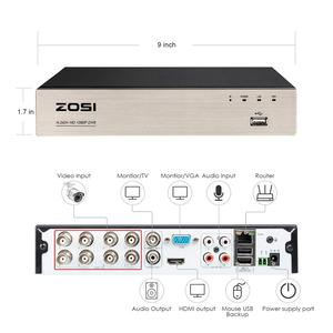 Image 2 - ZOSI 8 Channel TVI 4 IN 1 DVR H.265+  1080p Security CCTV DVR 8CH Mini Hybrid HDMI DVR Support Analog/AHD/TVI/CVI Camera