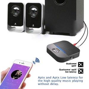 Image 3 - 20H Spielen 50M Lange Klingelte Bluetooth 5,0 RCA Empfänger Mit 3D Surround aptX LL 3,5mm Jack Aux wireless Adapter Auto Audio Sender