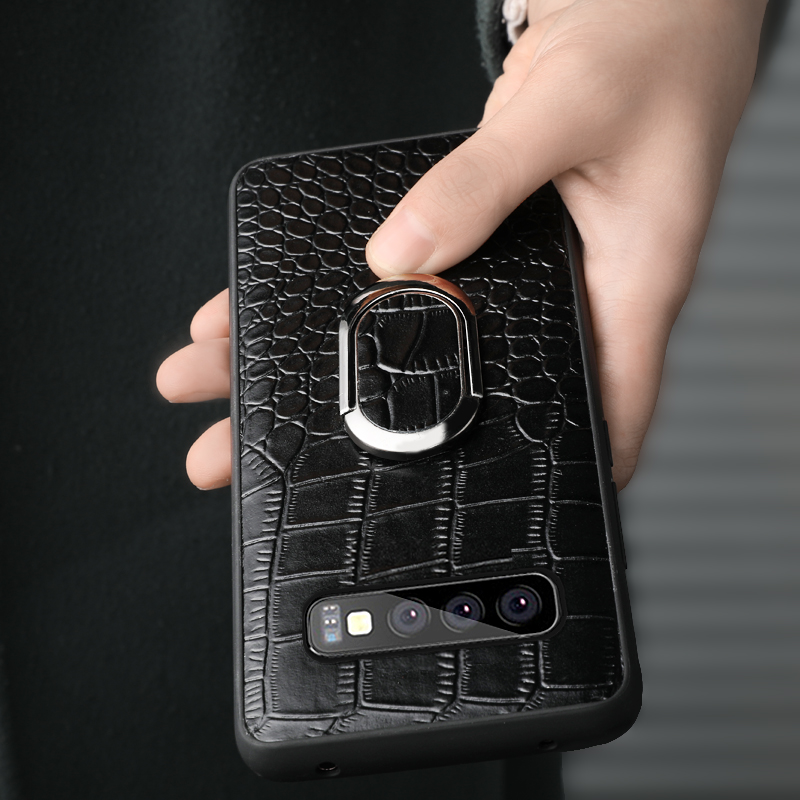 Genuine Leather phone case for Samsung note 10 S10 plu s9 Business Wear resistant shockproof protective case for Samsung A70 60 in Fitted Cases from Cellphones Telecommunications