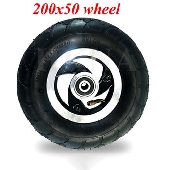 200x50 de neumático de la rueda eléctrica Scooter Razor E100 E150 E200 Espark loco carro Scooters 8 pulgadas frente piezas de la rueda