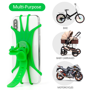Innovative Silicone Phone Holder Bicycle Racks for 4-6.3