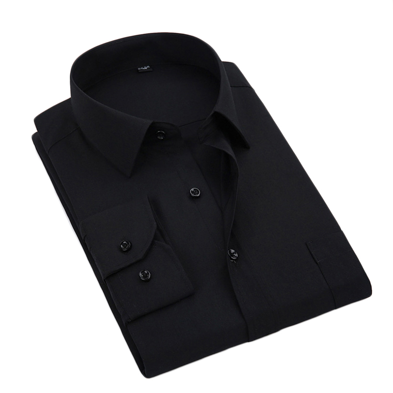 Kcoyster Men Shirt Black Long Sleeve Big Size Formal Shirts for Men Office Clothing 6XL 7XL 8XL Dress camisa social masculina
