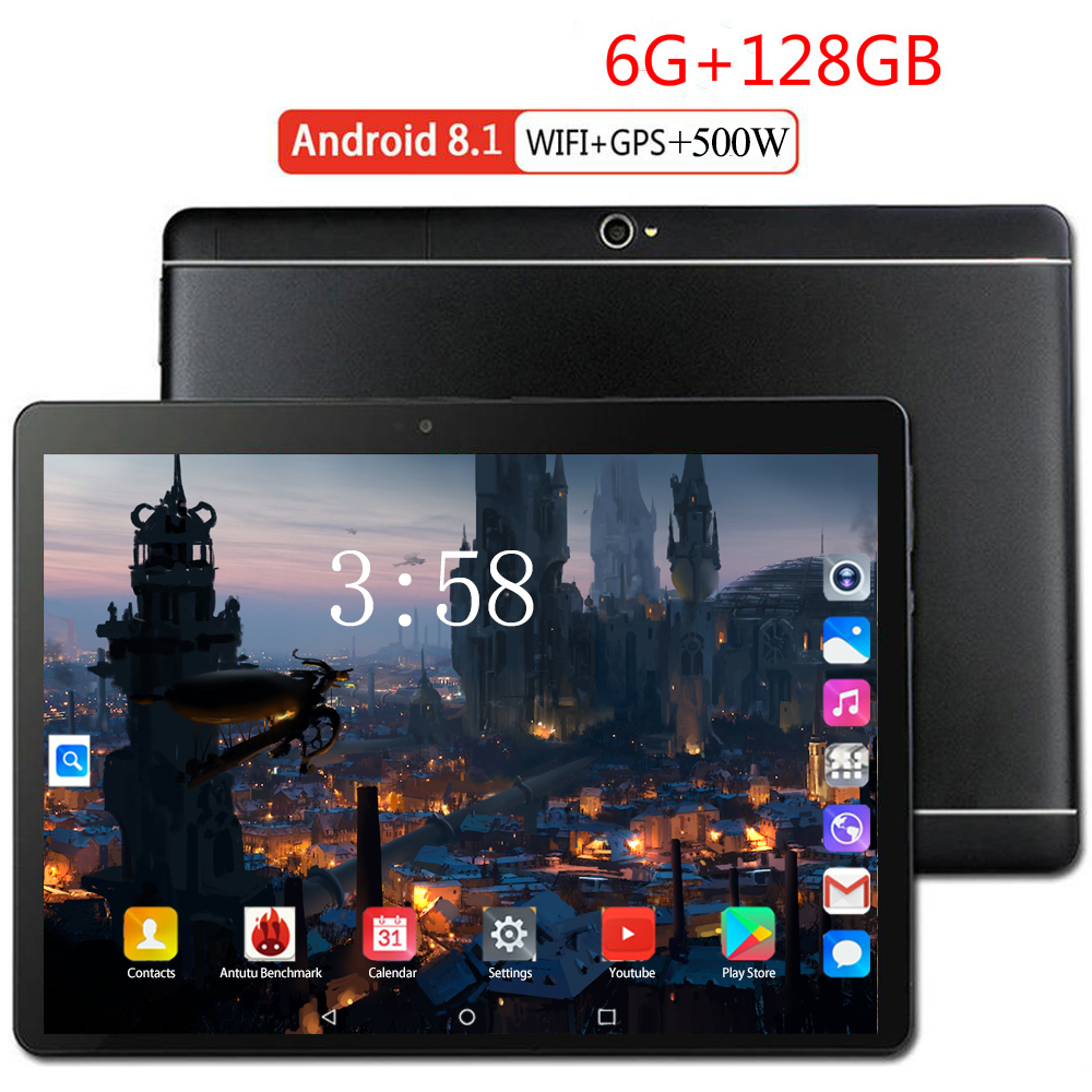 2020 Android 8.0 The Tablet 8 Core Ram 6GB Rom 128GB 4G LTE 1280 800 IPS 5.0MP SIM Card Ips Tablet 10.1 Inch Tablette Pocket PC