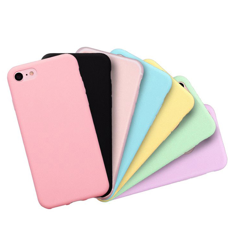 VZD Candy Color Matte Phone Case For iPhone 6s Plus 6 7 8 5 5s SE For iPhone XS MAX X XR Simple Solid Soft TPU Cases Back Cover