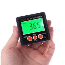 Digitale Inclinometer Elektronische Gradenboog Aluminium Legering Shell Bevel Box Hoek Gauge Meter Meten