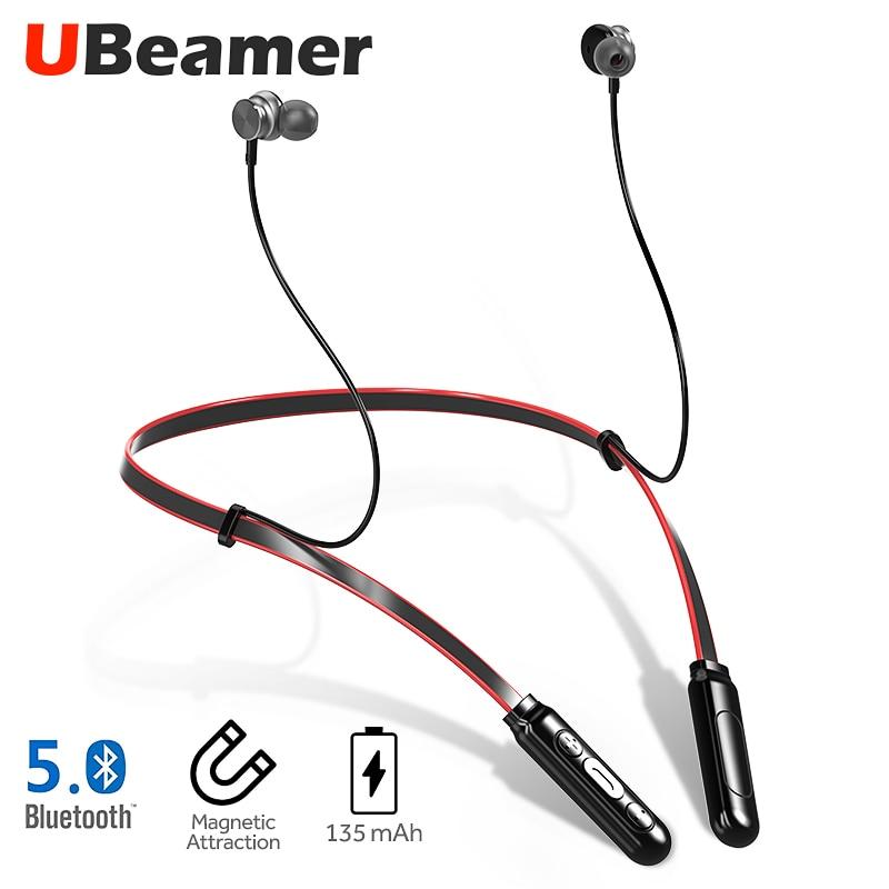 UBeamer Bluetooth v5.0 Earphone Q9 Newest Wireless Headphones Waterproof Earphone with microphone stereo for i10 call/sport