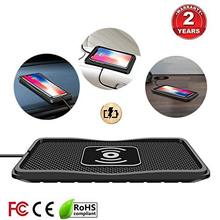 Car wireless charging pad Qi 10W fast charger ultra-thin car mobile phone