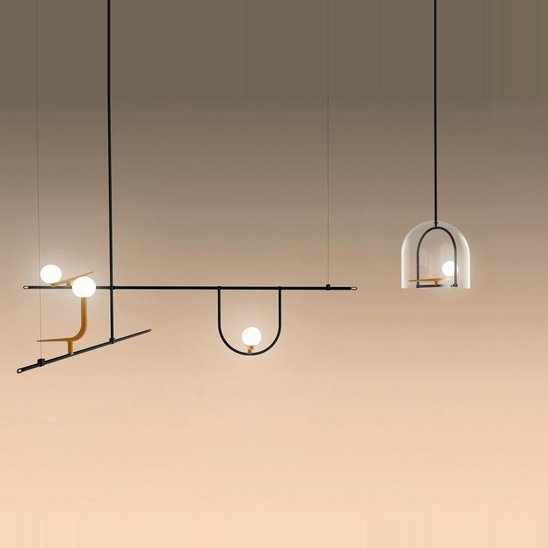 Modern Aet Deco Bird Pendant Lights Nordic Iron Black LED Pendant Lamp Bedroom/Coffee Vintage Home Decor Kitchen Light Fixtures