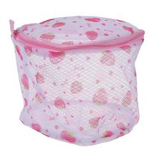 Bra/Underwear/Lingerie/Socks Laundry Mesh Bag Wash Basket--Strawberry or Rose Print(China)