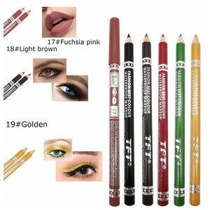Image 4 - 1PC wodoodporna podwójna głowica wodoodporna ciecz znaczek Eyeliner Pen tatuaż tłoczenia Eyeliner ołówek narzędzia do makijażu