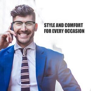 Image 5 - Cyxus Stylish Glasses Half rim Frame Eyeglasses Clear Lens for Men/Women Unisex Eyewear Black 8056