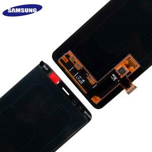 Image 3 - 100% מקורי AMOLED תצוגת LCD עבור סמסונג גלקסי A8 בתוספת 2018 A730 LCD תצוגת מסך מגע Digitizer החלפת יכול להתאים