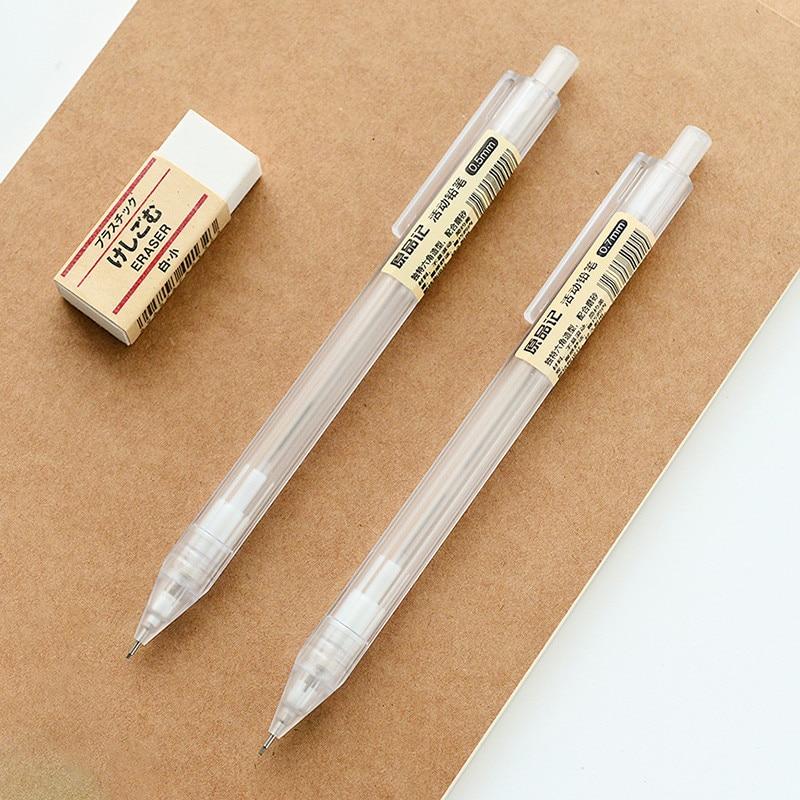 Kawaii Plastic Mechanical Pencil Transparent Automatic Pencils For Kids Material Escolar Muji Style Mechanical Pencil 0.5mm