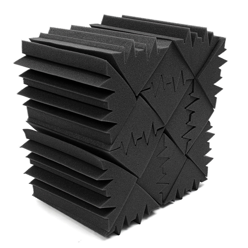 12*11*24cm Sound Absorption Foams Treatment Panel Block 8pcs Corner Trap Acoustic Soundproof