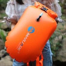 Inflatable Safety Swim Buoy Open Water Sport Lifeguard With Waistbelt Kayaking Storage Swimming Surfing Life-saving Drift Bag недорого
