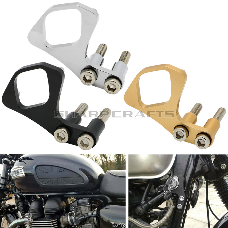 Motorcycle <font><b>Accessories</b></font> Ignition Key Left / Right Relocation Bracket For <font><b>Triumph</b></font> <font><b>Bonneville</b></font> <font><b>T100</b></font> / SE / Scrambler / Thruxton image