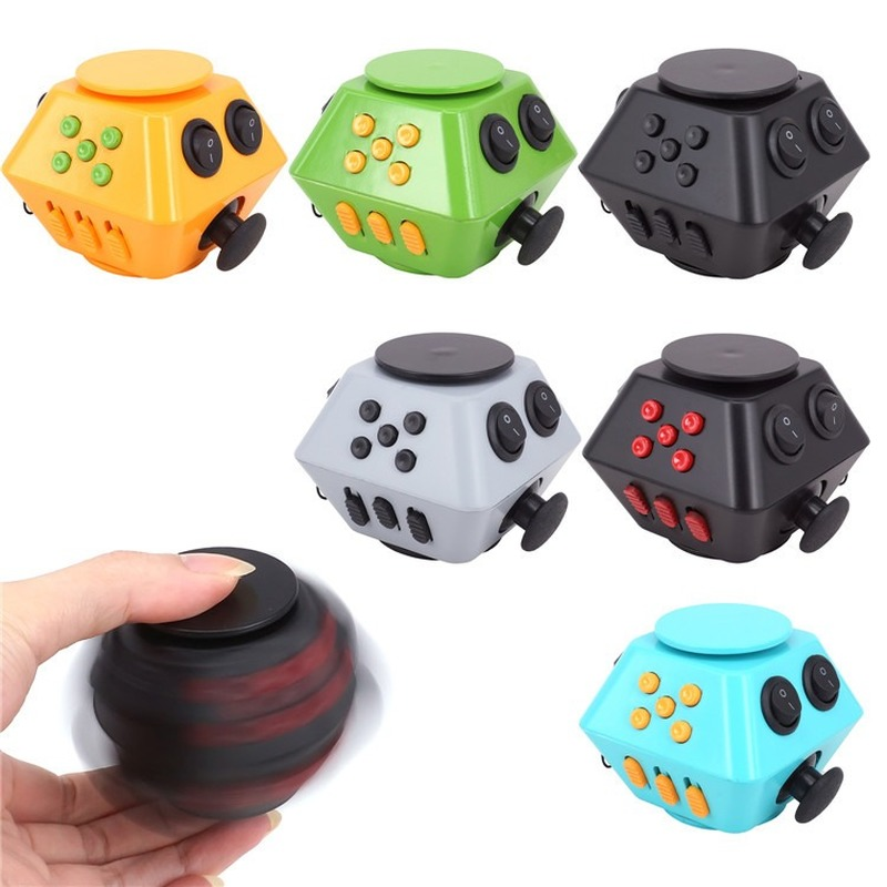 Fidget Spinner With Cube EDC Anti Stress Cube Square Finger Spinner Toys Autism ADHD Puzzle Adult Hand Toys Stress Relief
