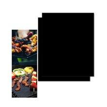 2 шт. многоразовые антипригарным Гриль барбекю, лист маты жаропрочный барбекю выпечка, Гриль коврик для пикника на открытом воздухе Пособия по кулинарии инструмент 40x33 см