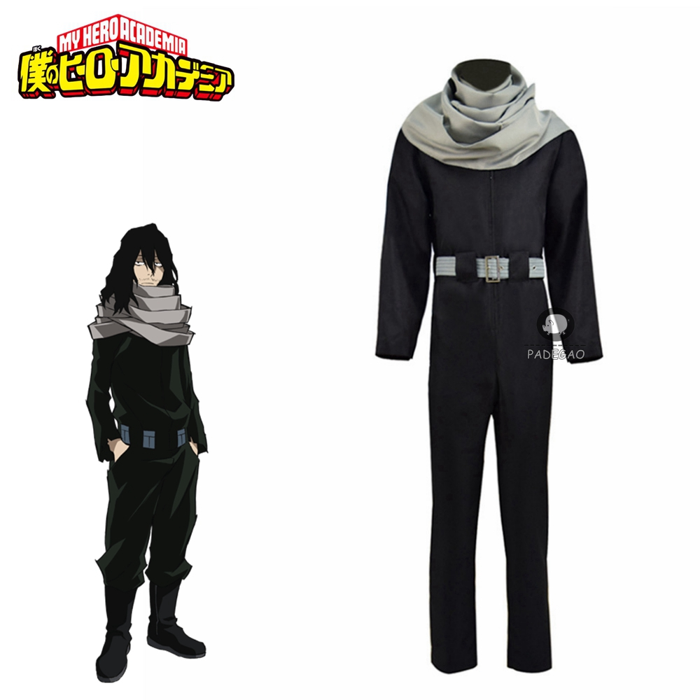 Comic Anime My Hero Academia Cosplay Costumes Aizawa Shouta Cosplay Costume Eraser Head Cosplay Clothes Men Cartoon Black Outfit