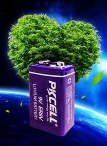 Image 5 - 4PCS PKCELL ER9V Battery 1200mAh 9V Li SOCl2 Lithium Batteries Baterias For Smoke Detector GPS 6LR61 6F22 electronic thermometer