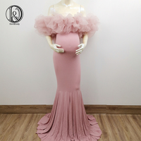 Don&Judy Maternity Dresses for Photo Shoot Pregnancy Dress Photography Prop Maxi Gown Dresses For Pregnant Women Clothes 2020
