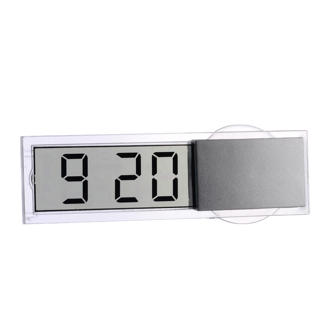 Auto Car Electronic Clock Mini Digital Car Electronic Clock Mini Durable Transparent LCD Display Digital With Sucker Universal|  -