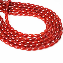 Linxiang natural red agate loose beads 4/6/8/10/12 mm suitable for jewelry production DIY Bracelet Necklace xinyao jewelry 40 4 6 810 12 14 diy f364 red agate beads