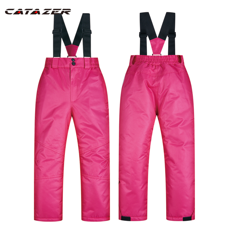 Outdoor Ski Pants Kids Boys and Girls Thicken Windproof Waterproof WarmSnow Children Trousers Winter Skiing and Snowboard Pants